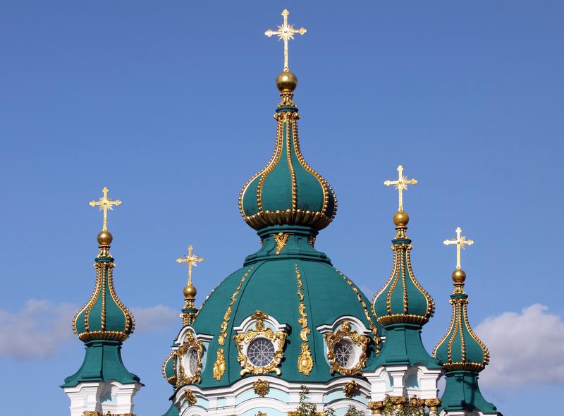 В Андреевской церкви нет