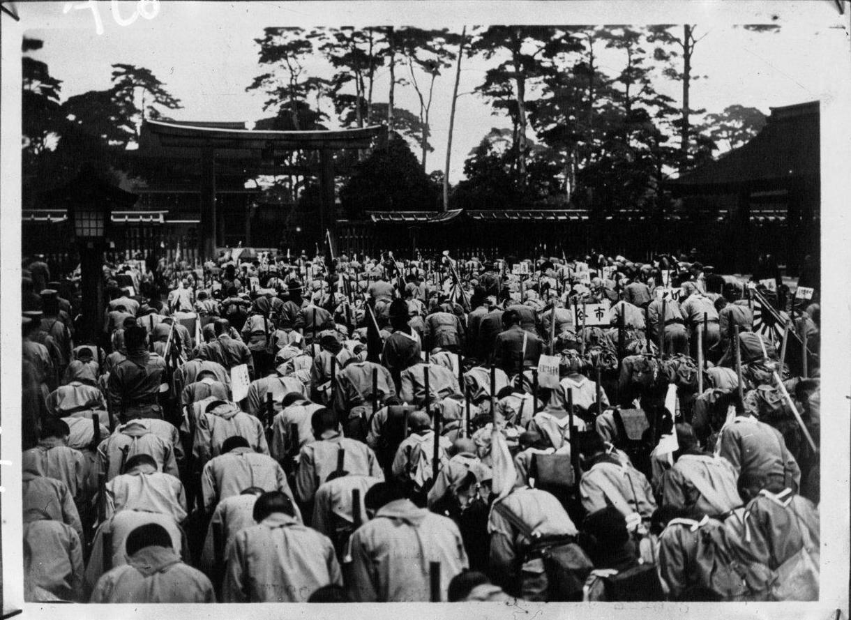 Церемония на кладбище в Токио