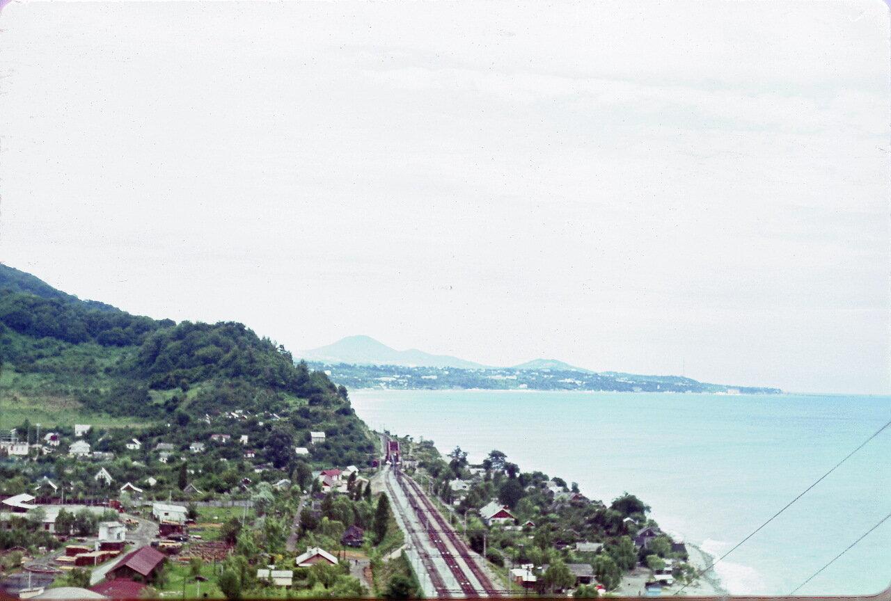 Берег Черного моря в районе Дагомыса