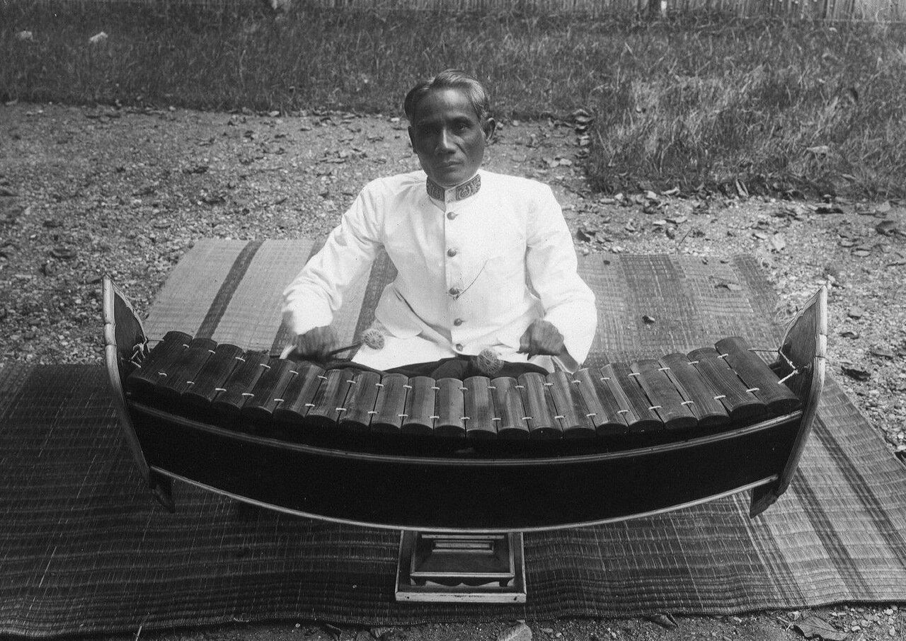 Камбоджа. Бамбуковый ксилофон ронеаф