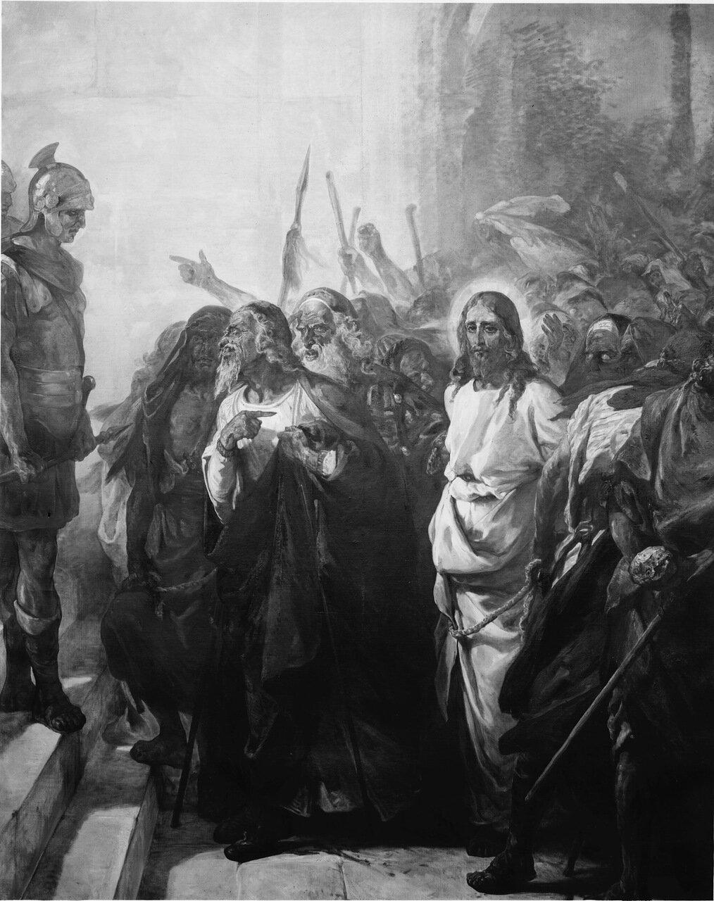 Иисуса ведут к Пилату
