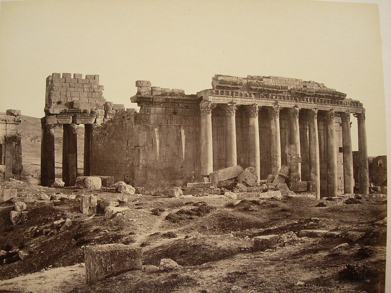 3 мая 1862. Вид с северо-востока на Храм Юпитера. Баальбек