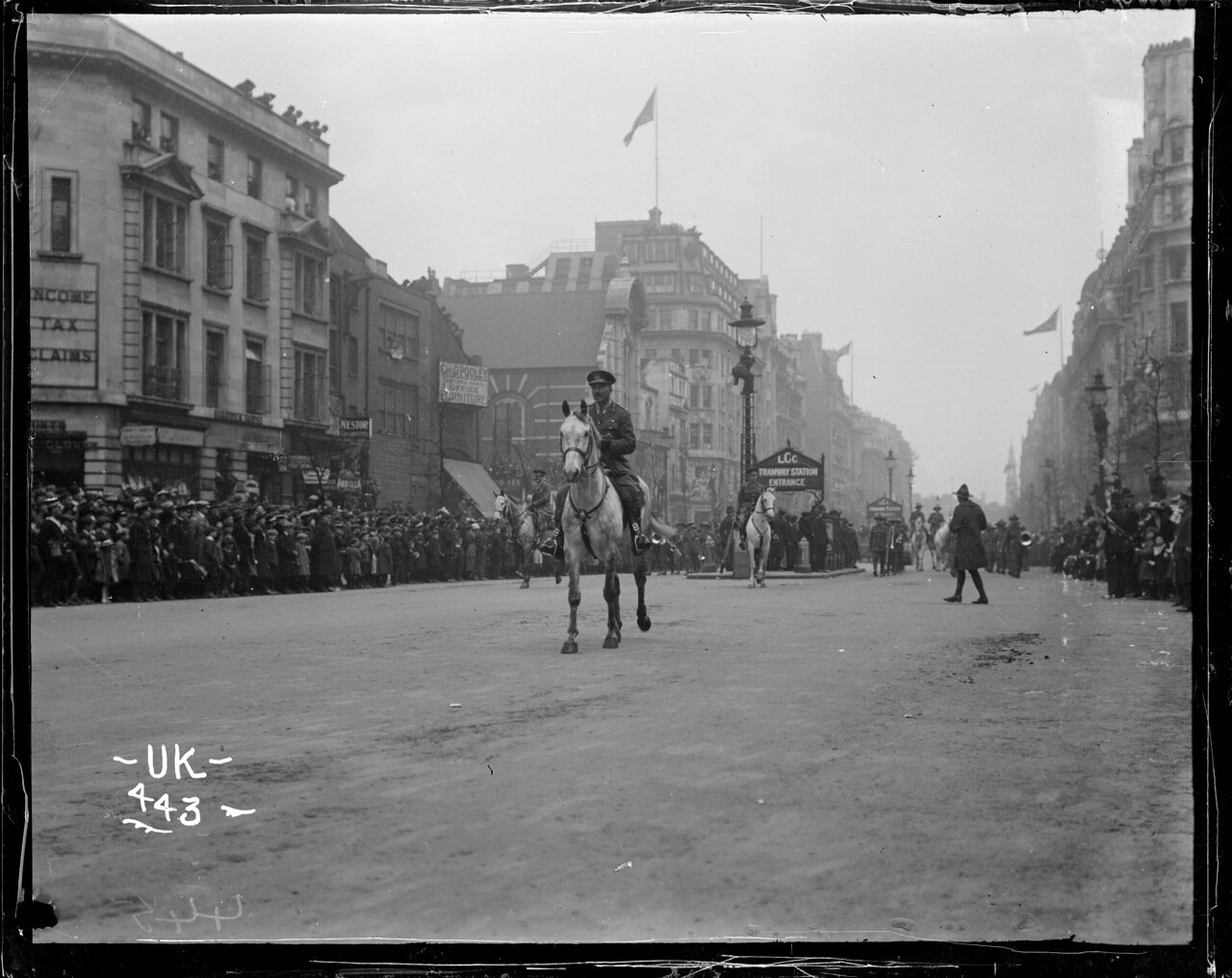 Кавалерист на лондонском военном параде