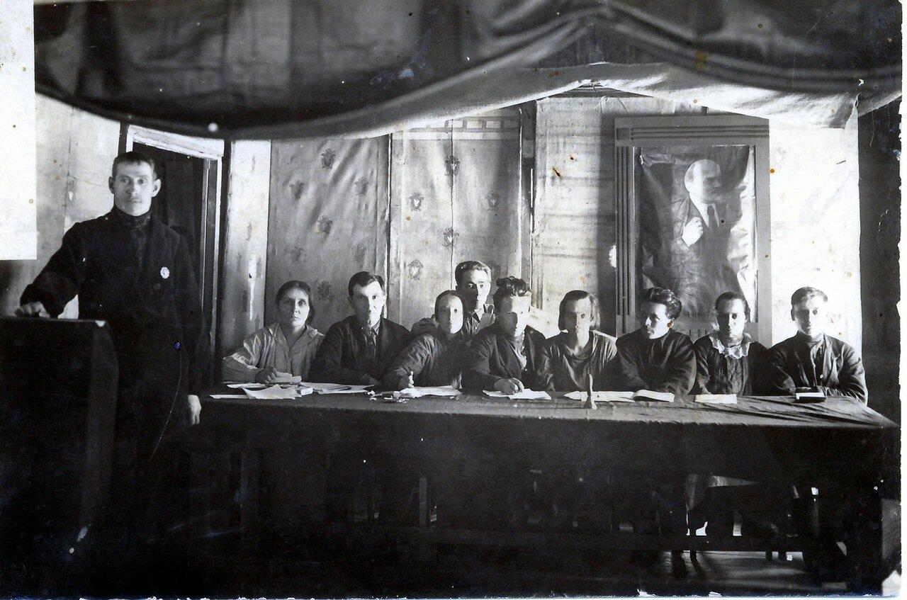 1929. Президиум Пятого съезда советов Просницкого района.