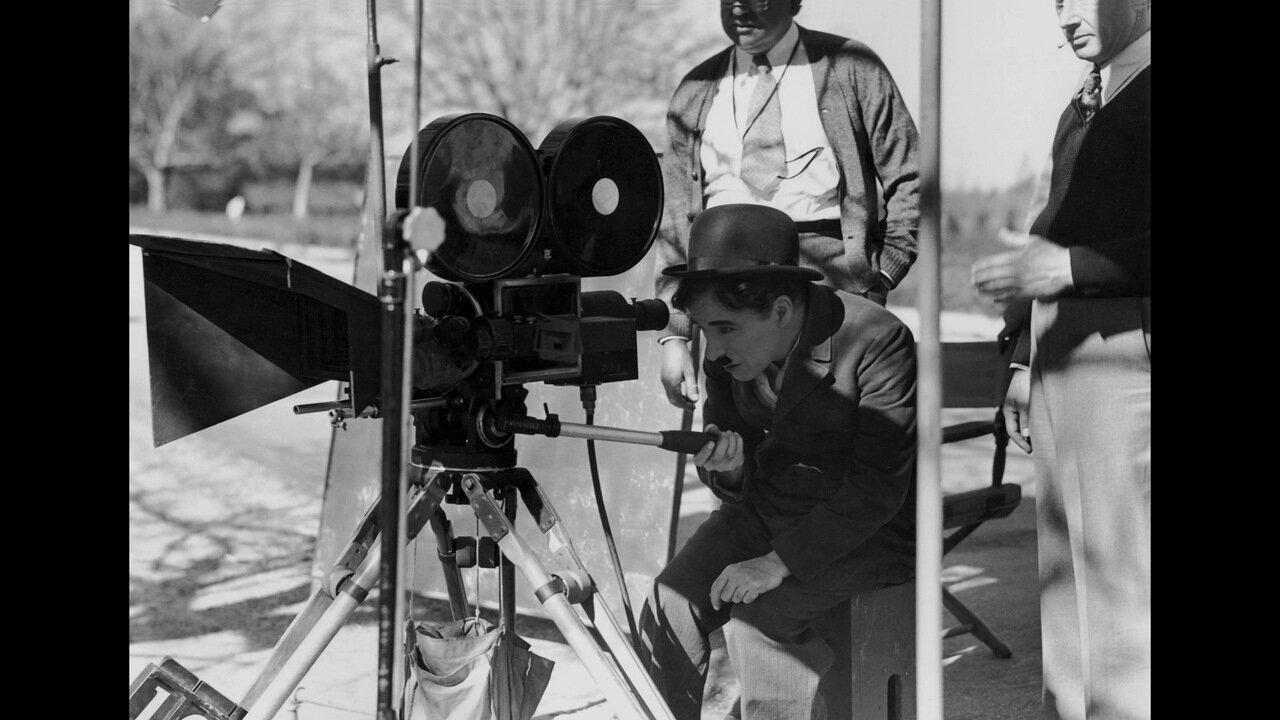 1925. Чарли Чаплин на съемках фильма «Золотая лихорадка»