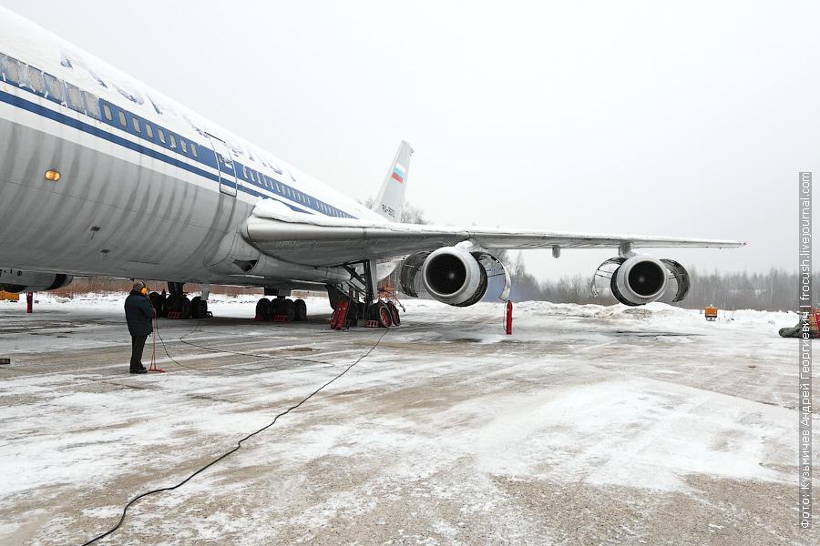 запуск двигателей Ил-86 RA-86103