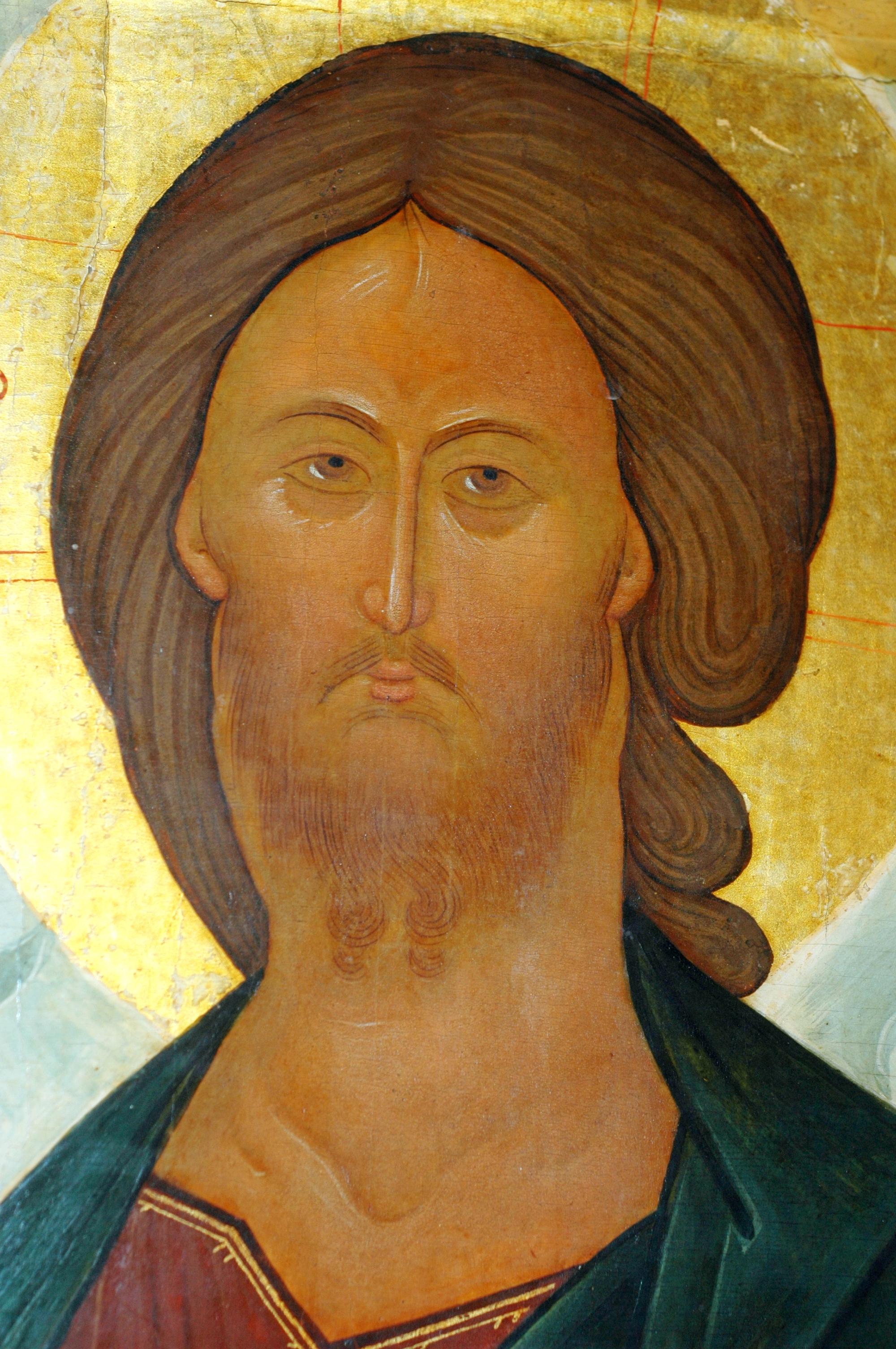 Спас Вседержитель. Икона середины XV века. Фрагмент.
