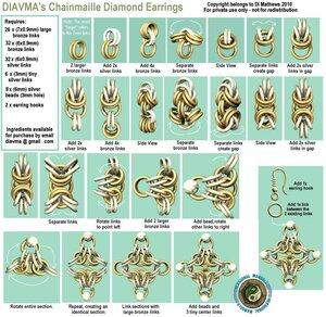 схемы кольчужного плетения