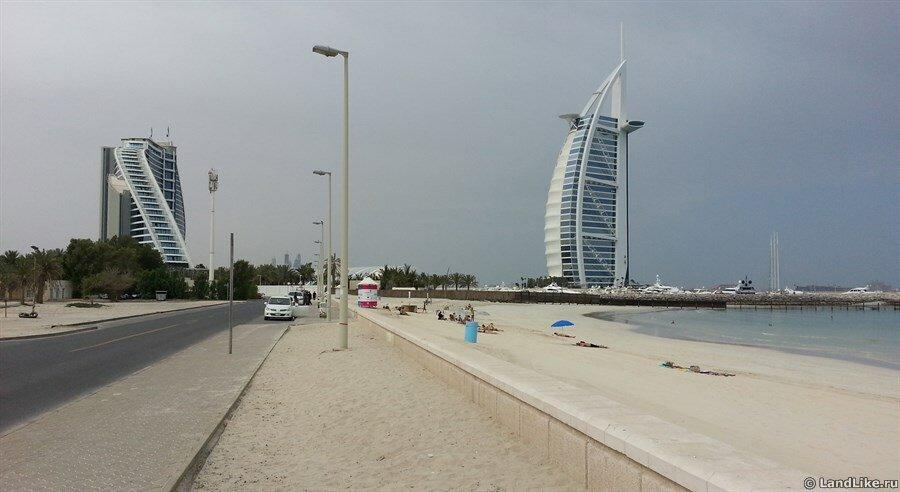 Отель Парус — Burj Al Arab (Бурдж Аль Араб) и отель Джумейра Бич (Jumeirah Beach Hotel)