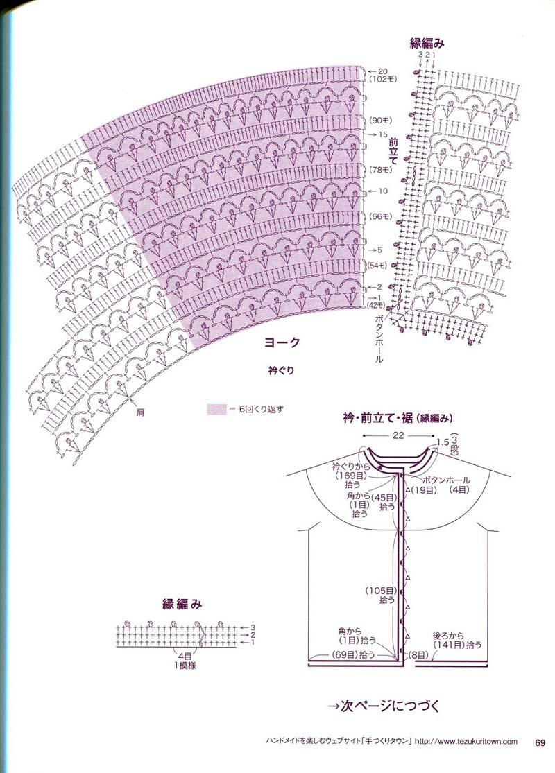 Круглые кокетки из японских журналов схемы