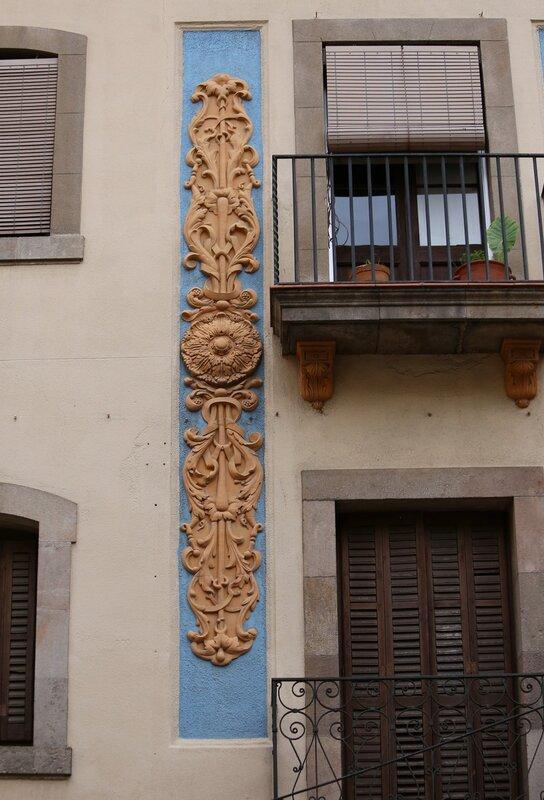 Barcelona, Barceloneta, Plaza, Casa Lepses. Barcelona. The Area Of Barceloneta. Casa Lasses