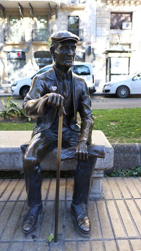 Tarragona. The Rambla Nova. Grandpa Virgil