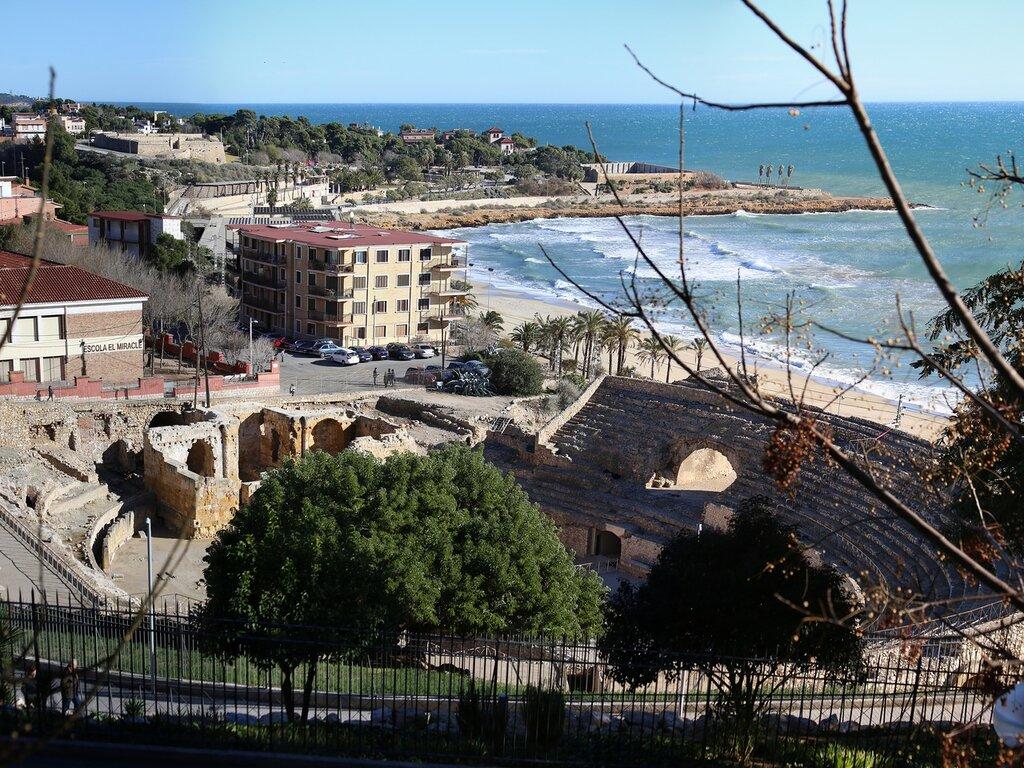 Tarragona. Roman amphitheater. Teatro romano de Tarraco