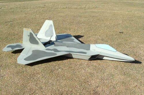 Чертеж модели самолёта F-22 Raptor