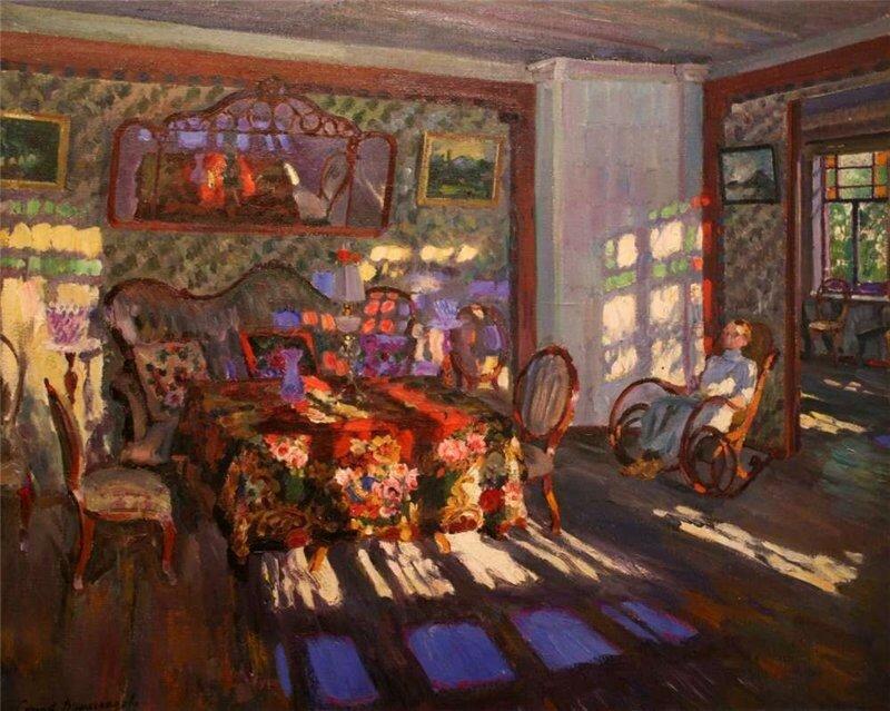 Сергей Виноградов Солнечный свет через цветные стекла. 1916 г..