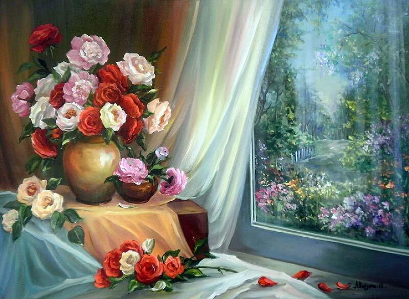 Пейзажи и натюрморты румынской художницы  Anca Bulgaru