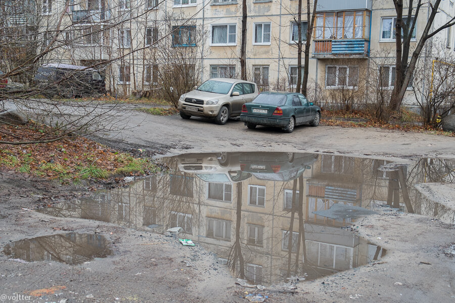 Петрозаводские дворы осенью