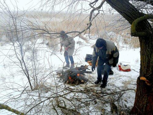 В снегах, походные условия