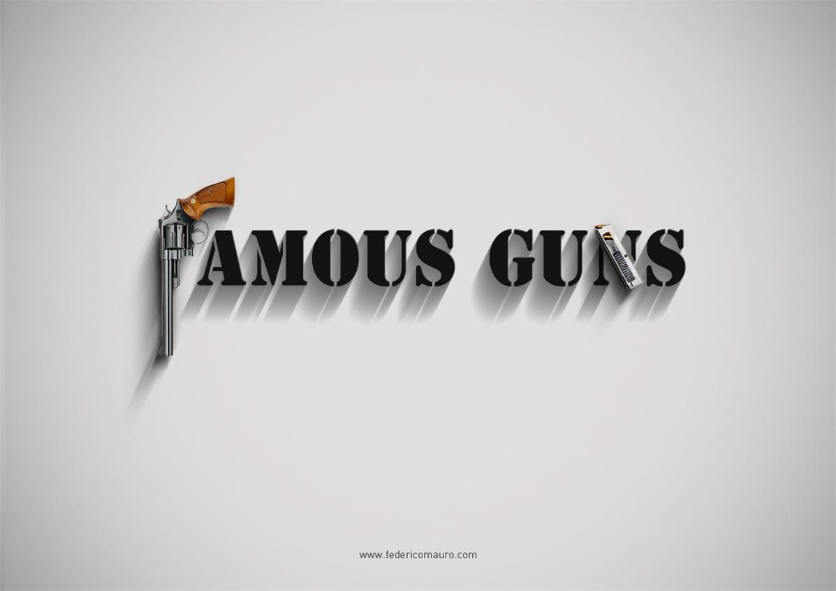 Знаменитые пушки - оружие культовых персонажей / Famous Guns by Federico Mauro