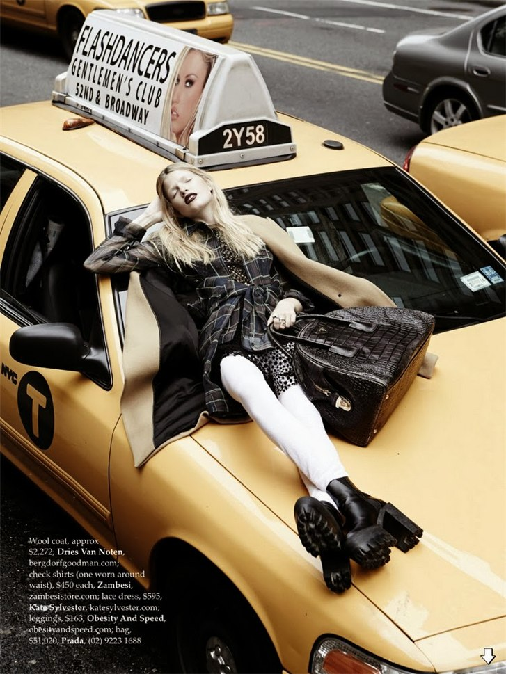 Гранж-мода Нью-Йорка - Луиза Паркер / Louise Parker by Manolo Campion in Elle Australia october 2013