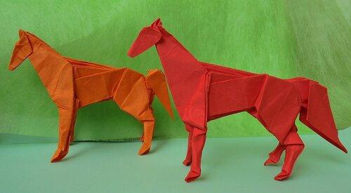 Лев. Бумага для оригами 30х30