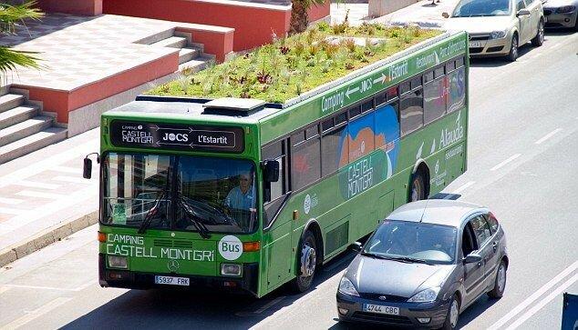Автобус с колумбийским контрабандным ганджубасом на крыше колесит по испанским дорогам