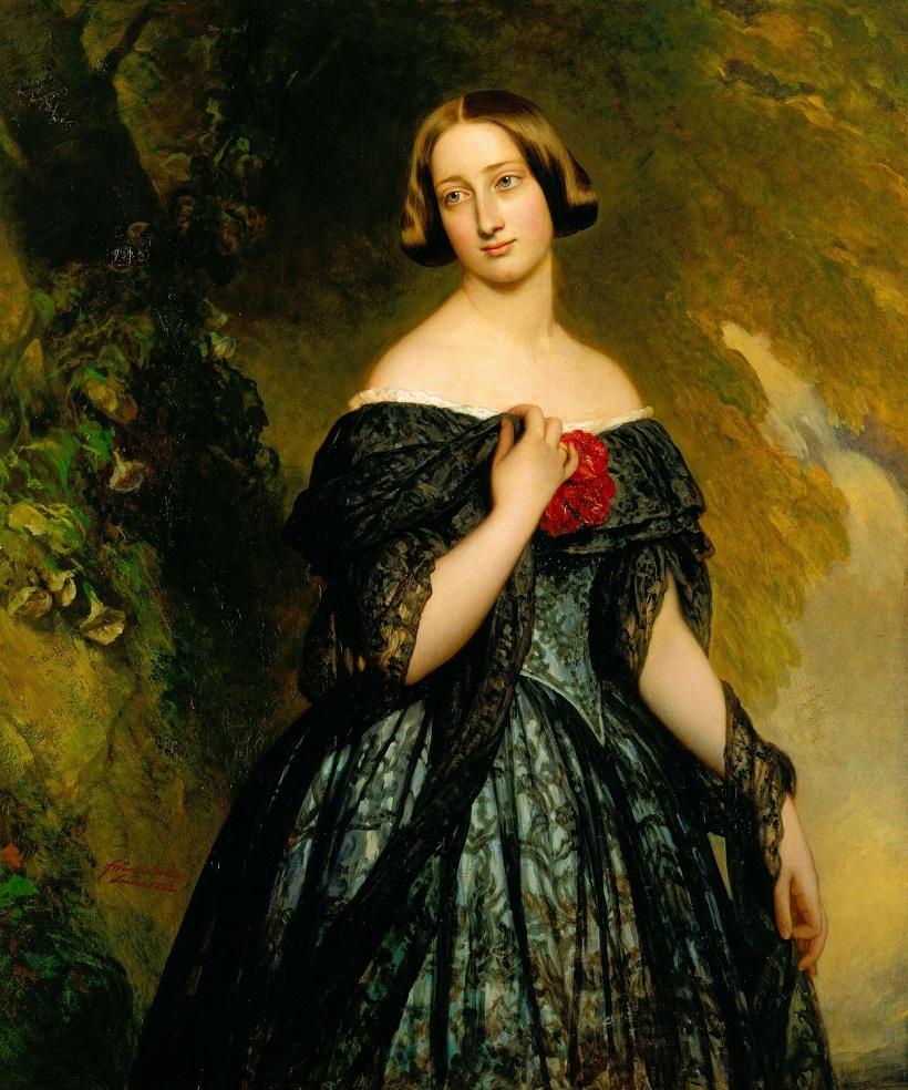 Александрина, герцогиня Саксен-Кобург-Гота (1820-1904)  Подпись и дата тысяча восемьсот сорок-два
