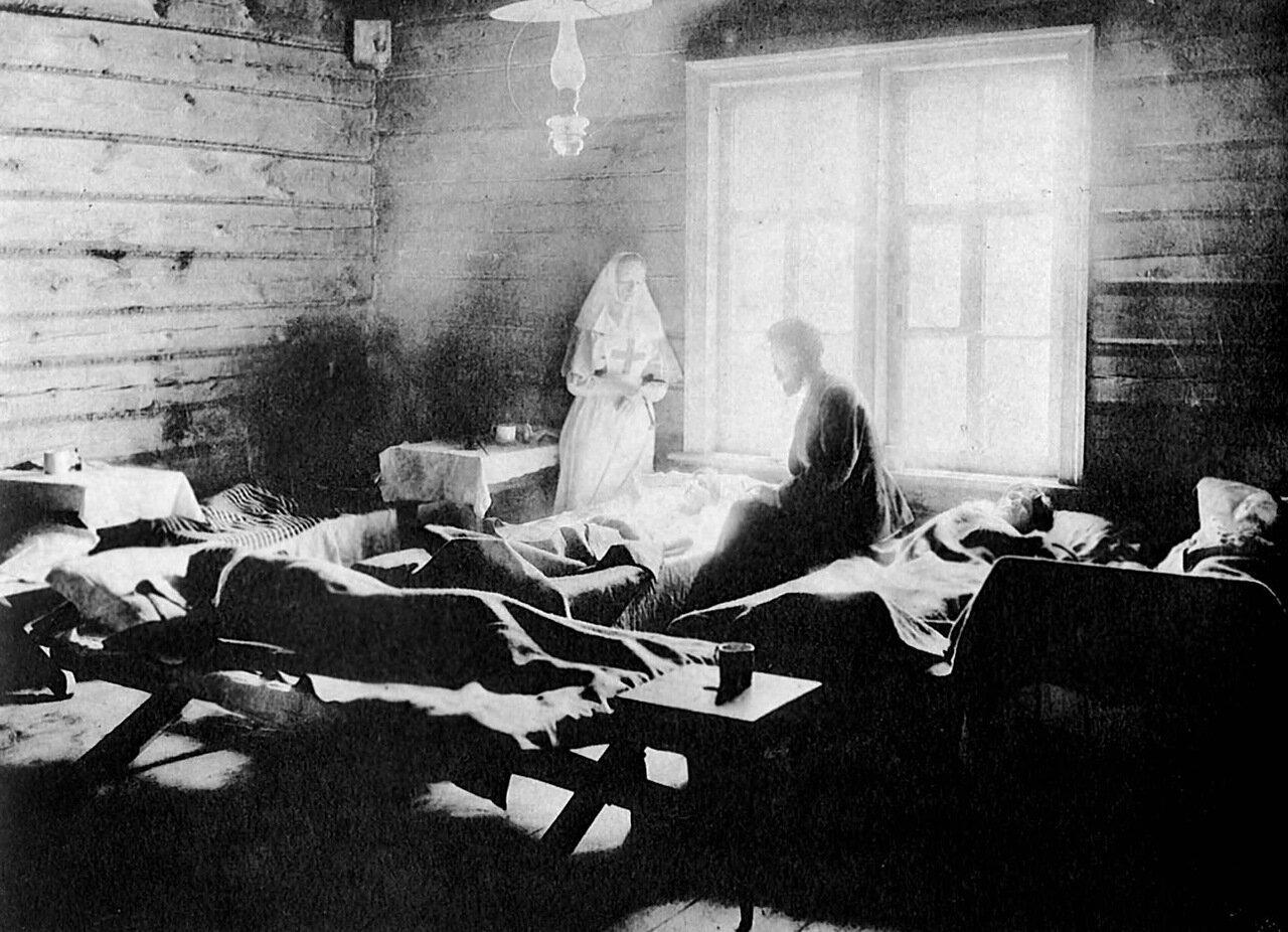 Тифозная больница в селе Новая Слобода Лукояновского уезда.