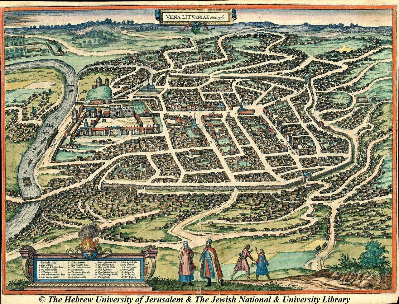 Вильно. Первая карта 16 века