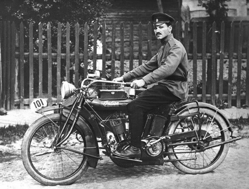 Mechanic of motorcycle forces, Minsk, Belarus, 1914