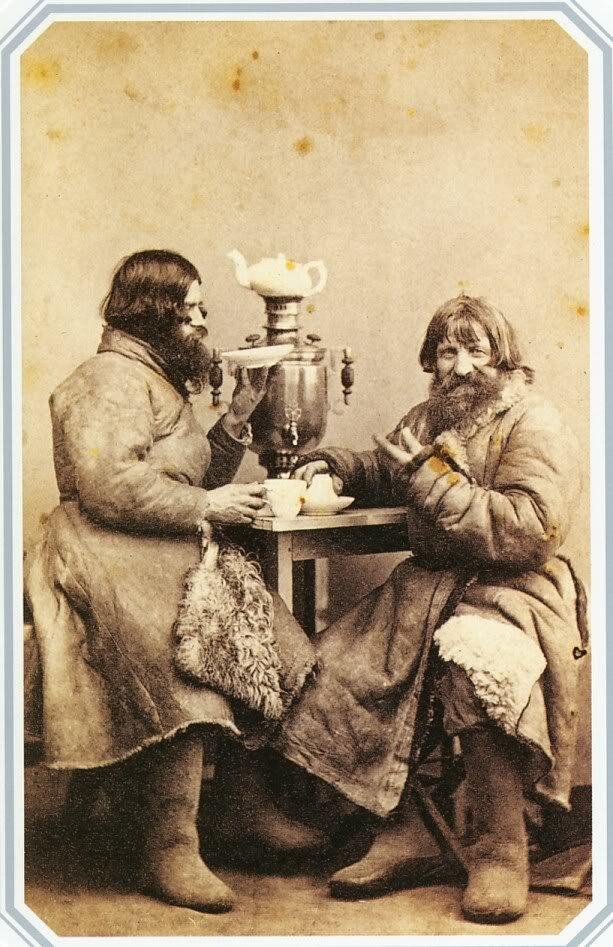 St. Petersburg cab drivers having tea, William Carrick