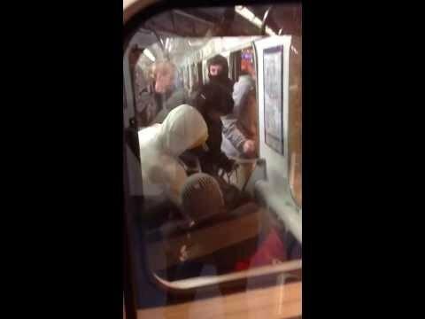 Погром на Удельной в Санкт-Петербурге, драка в метро