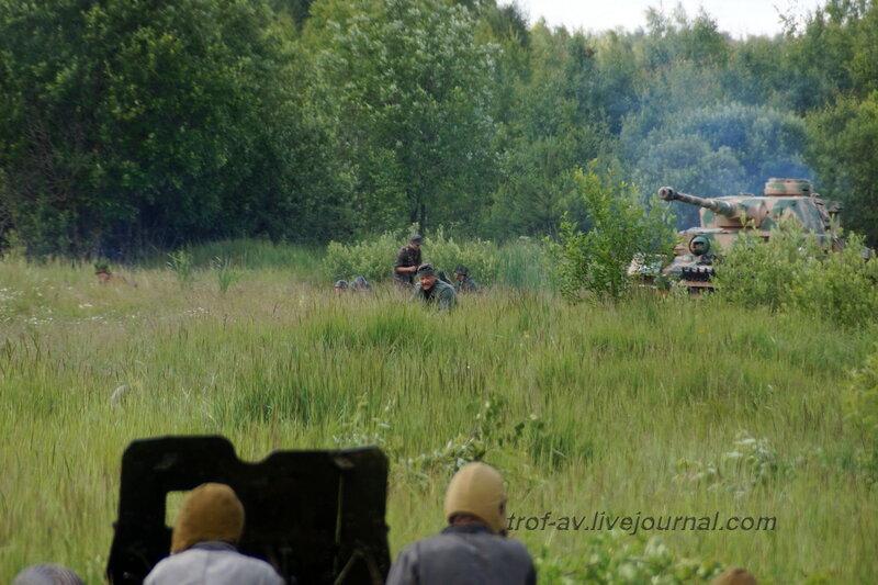 Советские артиллеристы против Т-4. 22 июня, реконструкция начала ВОВ в Кубинке (2 часть)