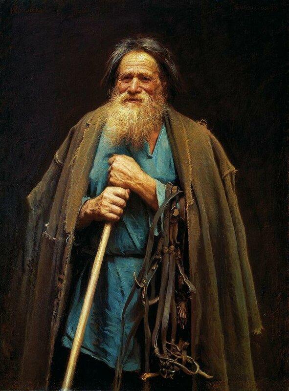 Крестьянин с уздечкой. Мина Моисеев. 1883.jpg