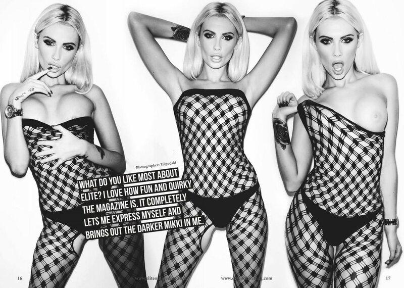 Alysha Nett, Jessie Jensen and Nikki B for Elite magazine.