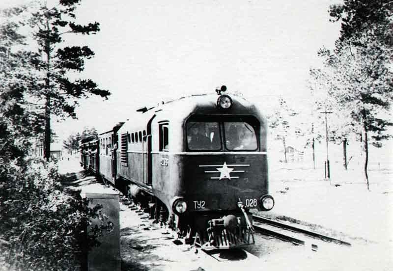 Тепловоз ТУ2-028 на станции им.Павлика Морозова (03.06.2013)