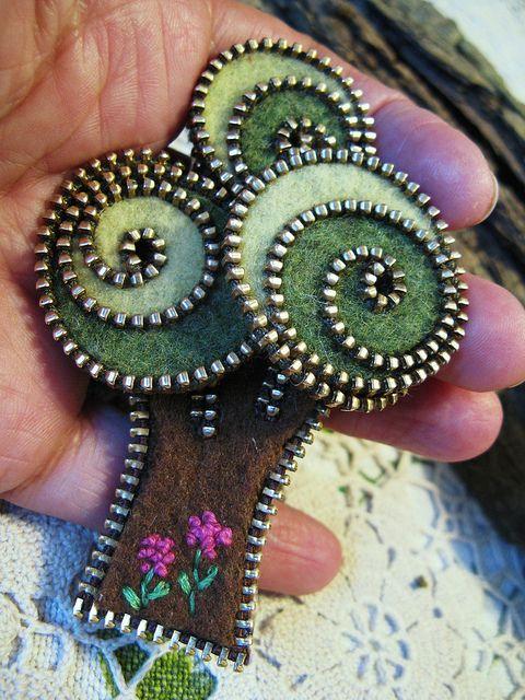 老式拉链用途的延伸 12:装饰品 - maomao - 我随心动