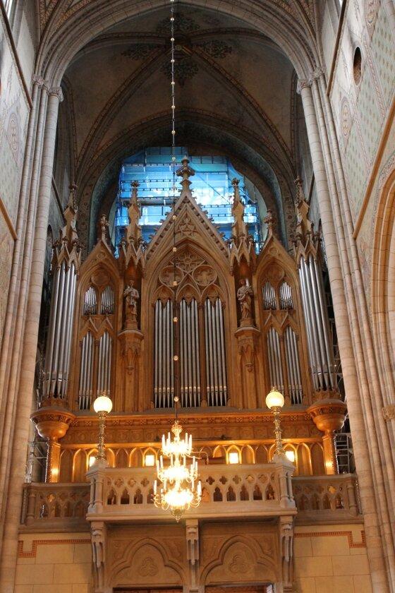 Уппсала. Кафедральный собор. Uppsala, Cathedral,  Åkermanska orgeln, organ,  Большой орган