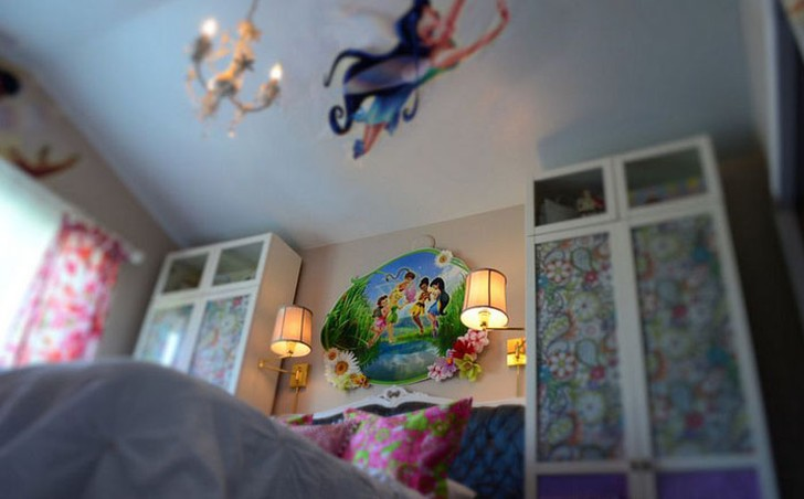 21. Феи в интерьере спальни Вам не удастся избежать диснеевской тематики при создании комнаты для до