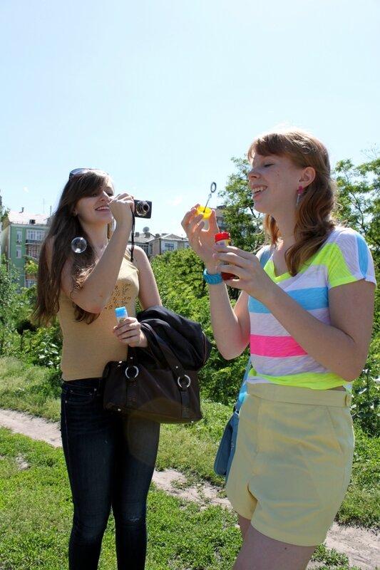 Фестиваль мыльных пузырей на Пейзажной аллее