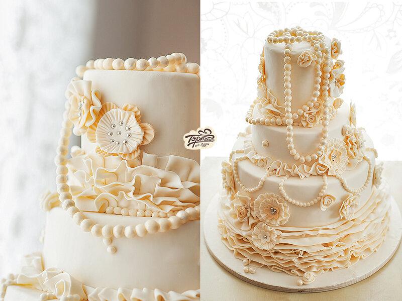 свадебный шикраный торт