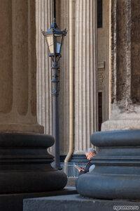 Читатель (Казанский собор, колонна, фонарь)