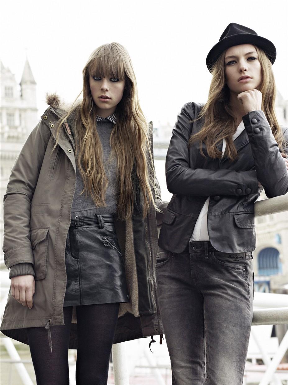 Edie Campbell / Эди Кэмпбелл в рекламе джинсовой одежды Pepe Jeans, осень-зима 2012-2013