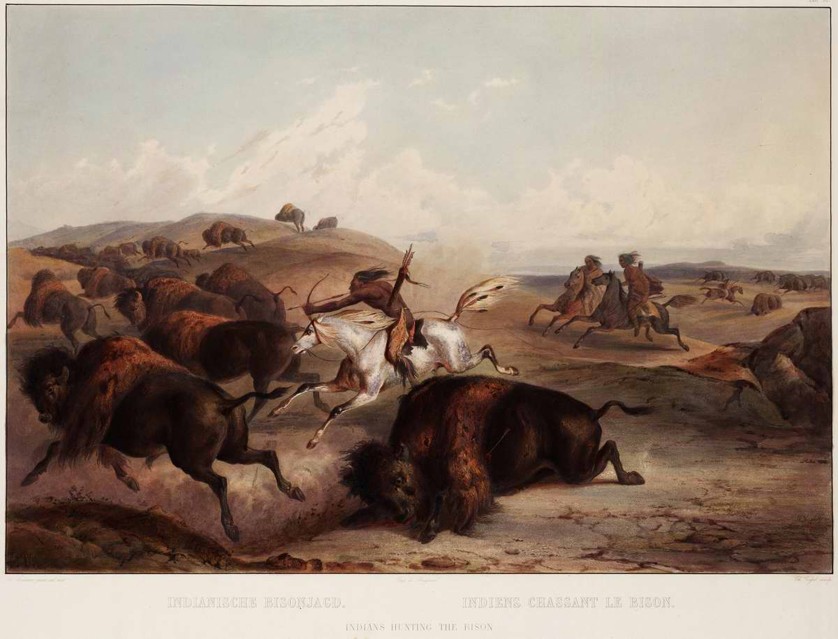 Охота на бизонов - Karl Bodmer