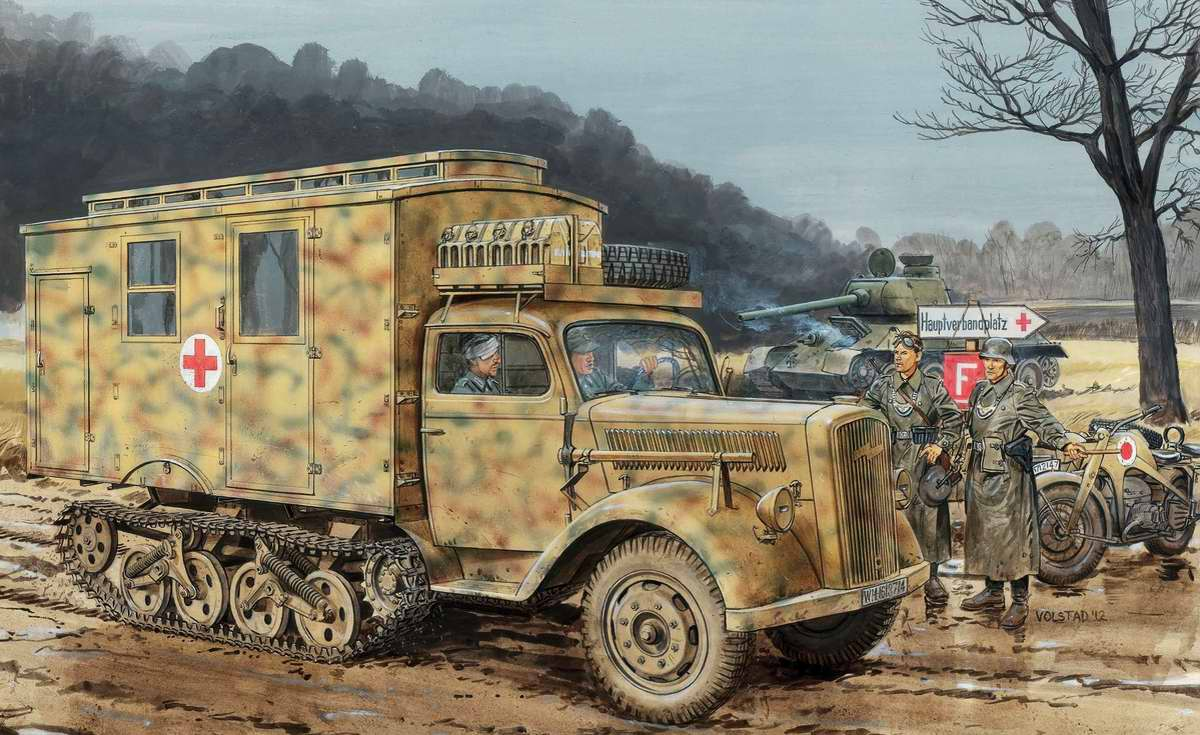 Немецкий полугусеничный грузовой автомобиль Sd.Kfz.3 (Ron Volstad)