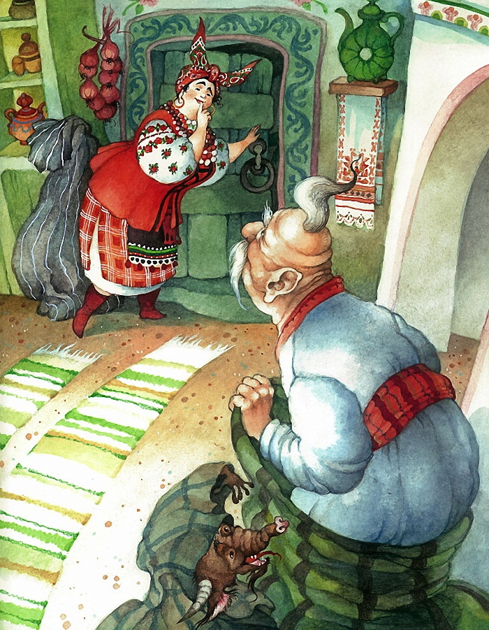 Черт из ночь перед рождеством рисунок