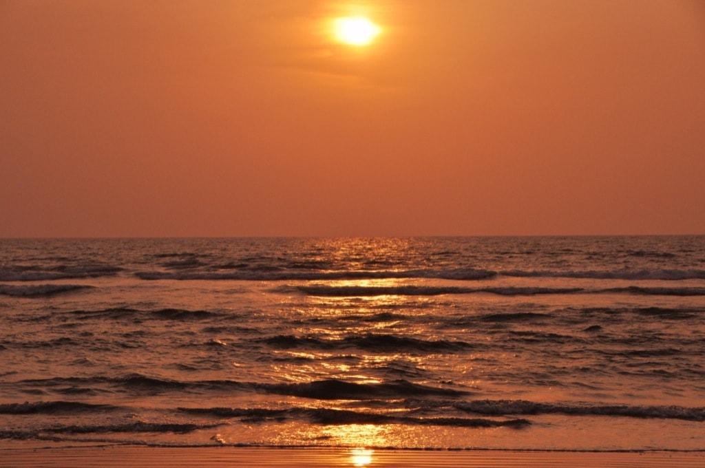 И снова закат на пляже Арамболь. Чуть позже