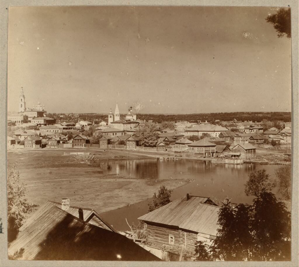 Город Кинешма и речка Кинешемка с Козьей слободы. 1910