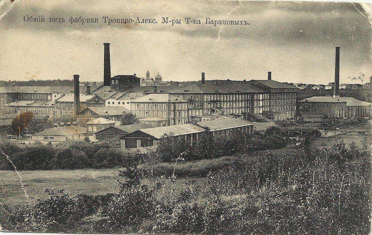 Общий вид фабрики Троицко-Александровской мануфактуры товарищества Барановых