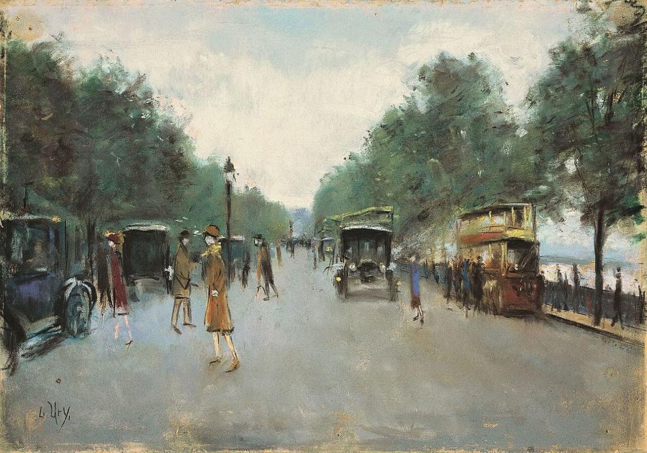Набережная Виктории, Лондон 1926, Лессер Ури (1861-1831)